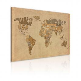 Obraz - Stara mapa świata (60x40 cm)
