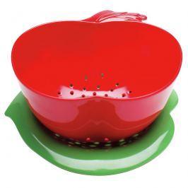 Durszlak jabłko z podstawką Zak! Design czerwono-zielony