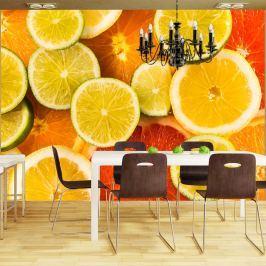 Fototapeta - Citrus fruits (200x154 cm)