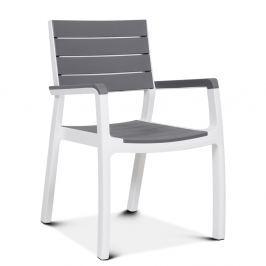 Krzesło sztaplowane Torino : Kolor - Biały - Jasny szary