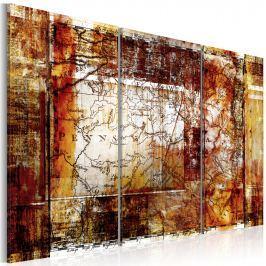 Obraz - Mapa: Pensylwania (60x40 cm)