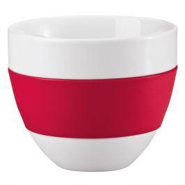 Kubek do latte 350ml Koziol Aroma biało-czerwony