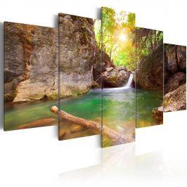 Obraz - Krystalicznie czyste jezioro (100x50 cm)