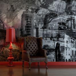 Fototapeta - Londyn, Londyn... (czarno-biały) (200x154 cm)