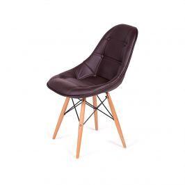 Krzesło 44x45x85cm King Home DSW Ekoskóra gorzka czekolada