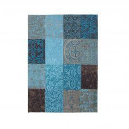 Dywan naturalny 140x200 cm Louis De Poortere Vintage Patchwork Turquoise turkusowy