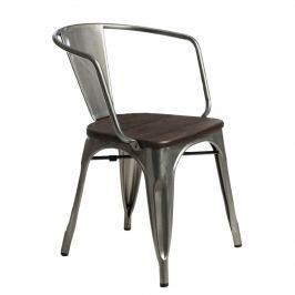 Krzesło Paris Arms Wood D2 metal-sosna szczotkowana