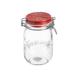 Słoik z ceramiczną pokrywą 1l Kilner Ceramic Lid Clip Top Jars czerwony