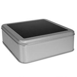 Puszka na herbatę w torebkach Eigenart tablicowa srebrna