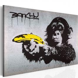 Obraz - Stój, bo małpa strzela! (Banksy) (60x40 cm)