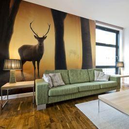 Fototapeta - Deer in his natural habitat (200x154 cm)