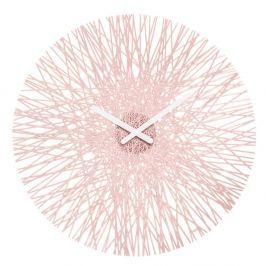 Zegar ścienny 45 cm Koziol Silk pastelowy róż