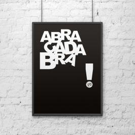 Plakat dekoracyjny 50x70 cm ABRACADABRA DekoSign czarny