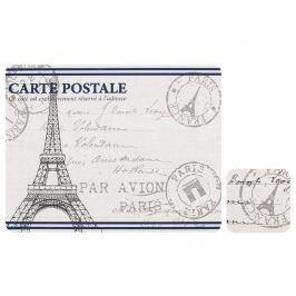 Zestaw 4 szt. podkładek 33,5x26cm Ladelle Paris Stamp biało-szary