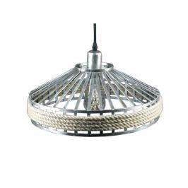 Lampa wisząca 38x38cm Altavola Design Prague Loft srebrna