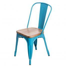 Krzesło Paris Wood D2 niebieskie/jesion