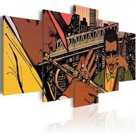 Obraz - Jazzowe granie - NYC (100x50 cm)