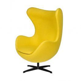 Fotel 83x107x72cm King Home Egg musztardowy/czarny
