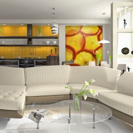 Fototapeta - Plasterki pomarańczy (200x154 cm)