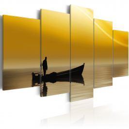 Obraz - Rybak (100x50 cm)