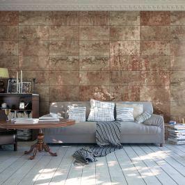 Fototapeta - Kamienne tło: brąz (50x1000 cm)