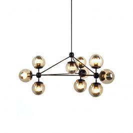 Lampa wisząca 91cm Step into design Astrifero bursztynowo-czarna