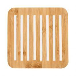 Bambusowa kwadratowa podstawka 20x20cm Ladelle Classic biała