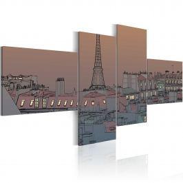 Obraz - Zmrok i Paryż (100x45 cm)