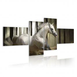 Obraz - Rozpędzony koń (100x45 cm)