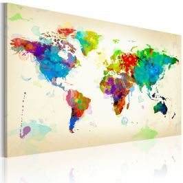 Obraz - All colors of the World (60x40 cm)