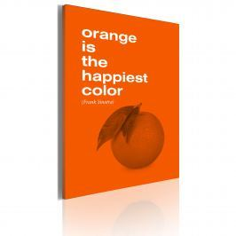 Obraz - Orange is the happiest color (Frank Sinatra) (50x70 cm)