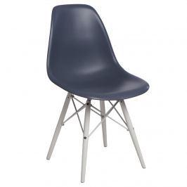 Krzesło P016W PP D2 dark grey/white