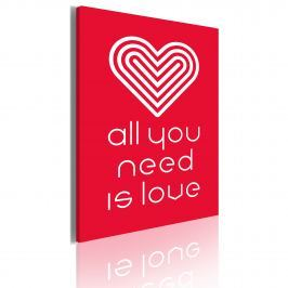 Obraz - All you need is love (50x70 cm)