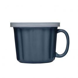 Kubek na zupę z pokrywką 0,5L Sagaform Soup niebieski