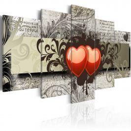 Obraz - Dwa serca, jedna myśl... (100x50 cm)