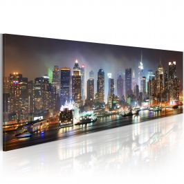 Obraz - White reflections in New York (120x40 cm)