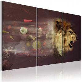 Obraz - lew (abstrakcja) (60x40 cm)