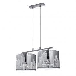 Lampa wisząca City 2 Lampex srebrna