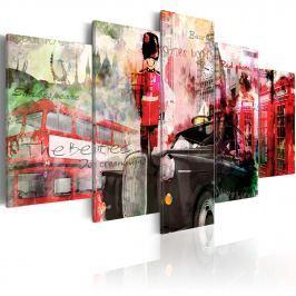Obraz - Wspomnienia z Londynu - 5 części (100x50 cm)