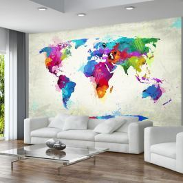 Fototapeta - The map of happiness (450x270 cm)