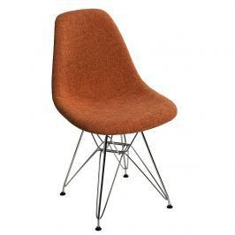 Krzesło P016 DSR Duo D2 pomarańczowo-szare