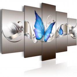 Obraz - Niebieskie motyle (100x50 cm)