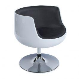 Fotel Harlow Kokoon Design biało-czarny