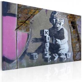 Obraz - Mały zabójca (Banksy) (60x40 cm)