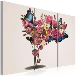 Obraz - Motyle, kwiaty i karnawał (60x40 cm)