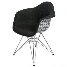 Krzesło P018 DAR Pattern D2 szare/pepitka