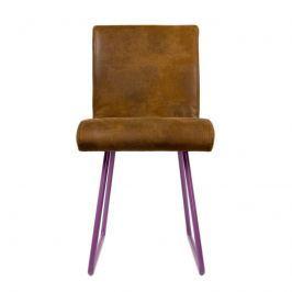 Krzesło na płozach Gie El fioletowy