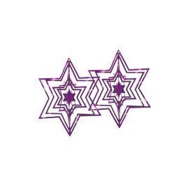 Ozdoba choinkowa Philippi purpurowa 2 szt.