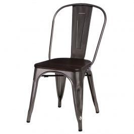 Krzesło Paris Wood D2 metaliczne-sosna szczotkowana