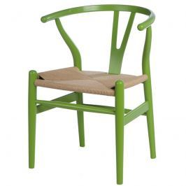 Krzesło Wicker Color zielone